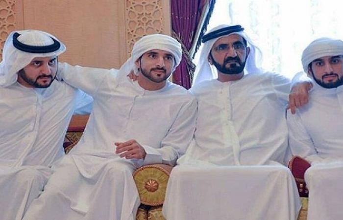 عقد قران 3 من أبناء حاكم دبي؟