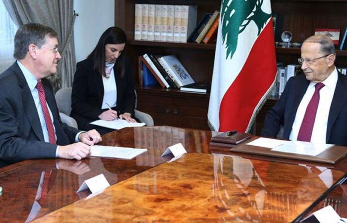 لقاء عون – ساترفيلد: أجواء إيجابية جداً وموقف لبناني موحّد