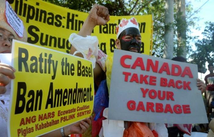 رئيس الفيليبين يأمر بإعادة النفايات إلى كندا