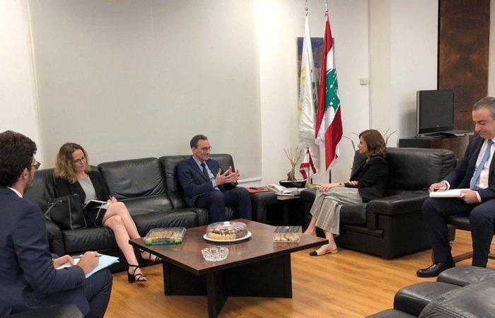 بستاني بحثت مع مستشار ماكرون في مشاريع الوزارة