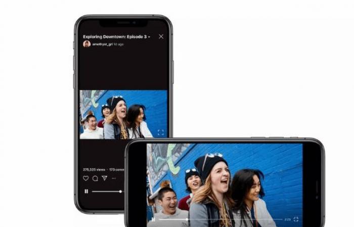 انستغرام تدعم الفيديوهات العرضية الطويلة في IGTV
