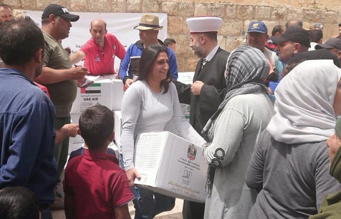 مساعدات غذائية إماراتية لألف أسرة في بعلبك