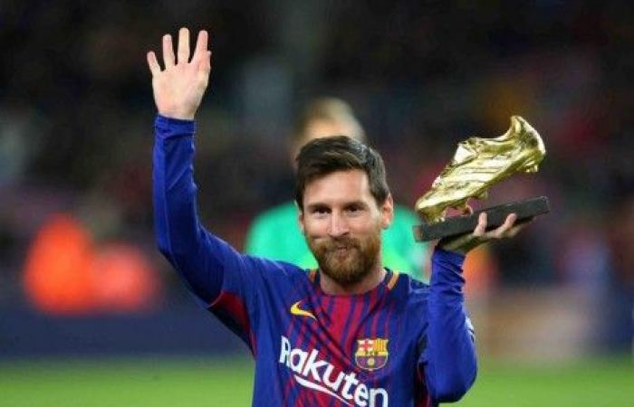 رسمياً: ميسي يتوجُ بجائزة الحذاء الذهبي للمرة السادسة في تاريخه