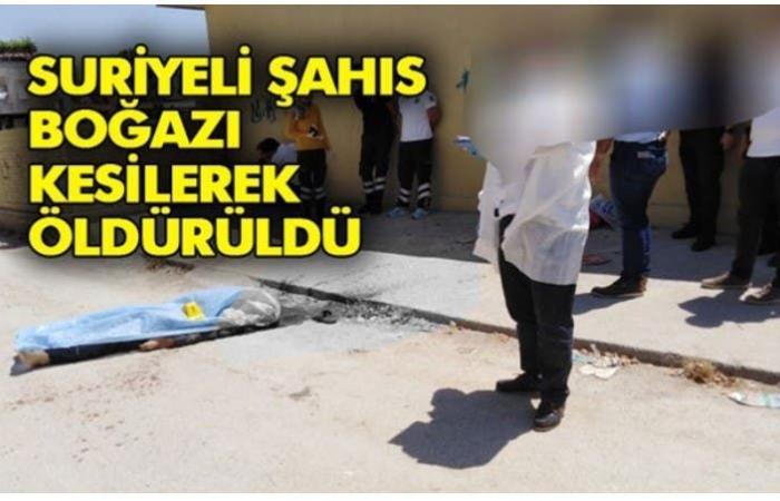 سوريا | تركي يذبح سورياً من رقبته ويسقطه جثة هامدة