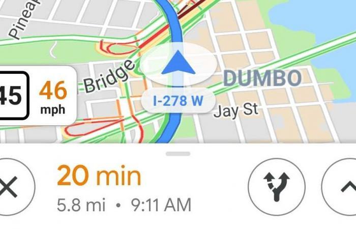 تحصل خرائط قوقل على ميزة عدّاد السرعة أثناء القيادة