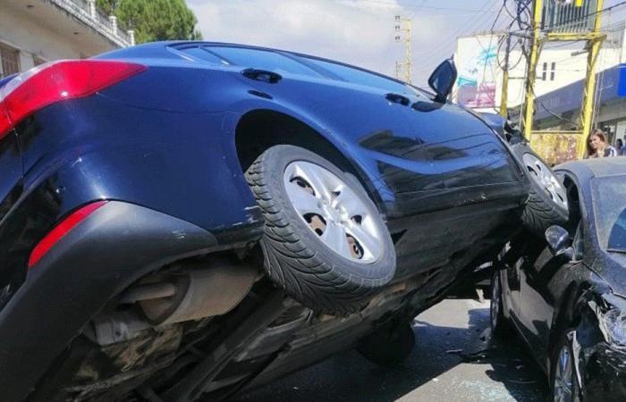 جريح بانزلاق سيارته على طريق أميون الكورة