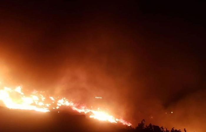 حريق على مساحة واسعة من الأعشاب بين جديدة مرجعيون ودبين