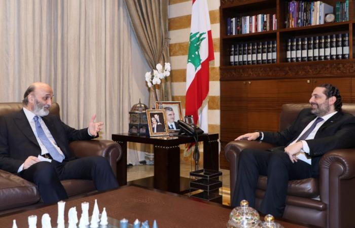 """جعجع من """"بيت الوسط"""": لا يجوز أن يرمي أحد لبنان في الهاوية"""