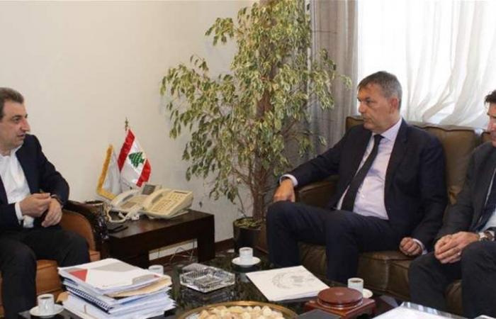 أبو فاعور ناقش مع لازاريني إعطاء المنظّمات الدولية الأولوية للمنتجات اللبنانية