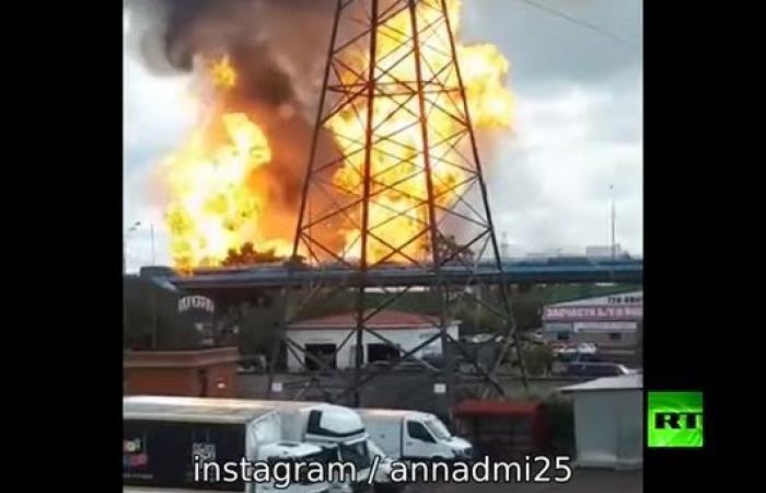 حريق كبير في محطة حرارية في ضواحي موسكو