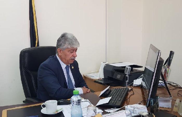 فلسطين | مجدلاني يودع نائب القنصل السويسري ويؤكد عمق العلاقات بين البلدين