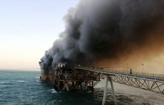 العراق | إخماد حريق بمنشأة تصدير نفط بحرية في البصرة
