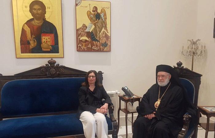 عودة استقبل سفيرة قبرص مودعة