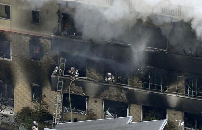 مخاوف من مقتل 13 في حريق متعمد في إستديو تصوير في اليابان