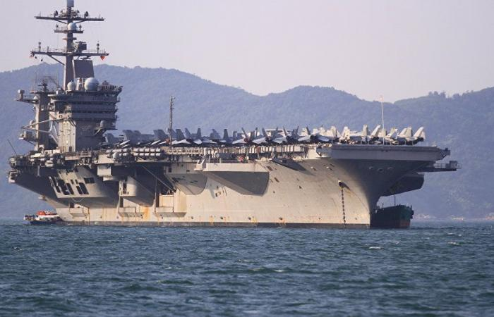 فقدان جندي من على متن حاملة طائرات أميركية في بحر العرب