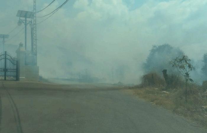 حريق في السامرية في الكورة