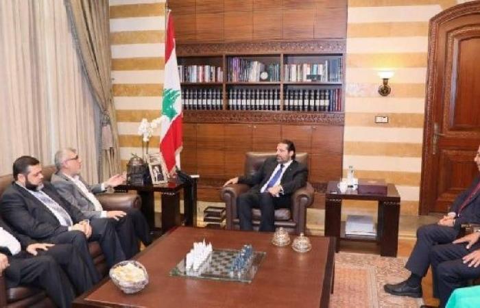 فلسطين   وفد من حماس يبحث مع الحريري تداعيات قرار وزارة العمل اللبنانية