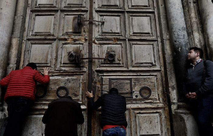 فلسطين | البطريرك ثيوفيلوس الثالث يجتمع مع رؤساء الكنائس الأمريكية