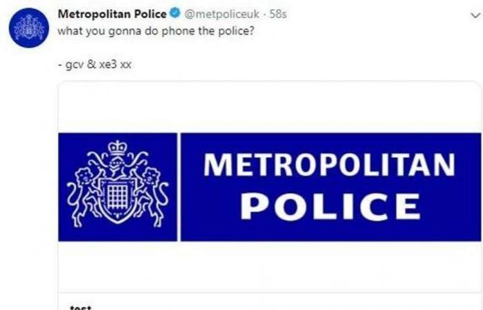 حساب شرطة لندن على تويتر يتعرّض للقرصنة