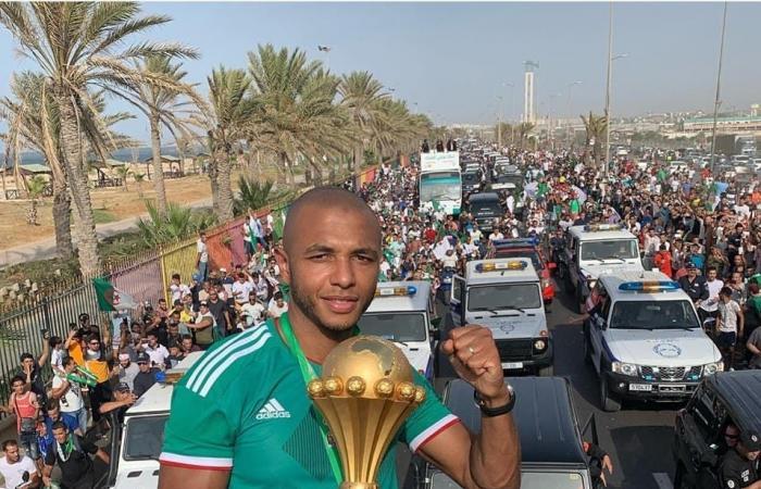 شاهد تسوتامي بشري يغمر حافلة محاربي الصحراء بالجزائر