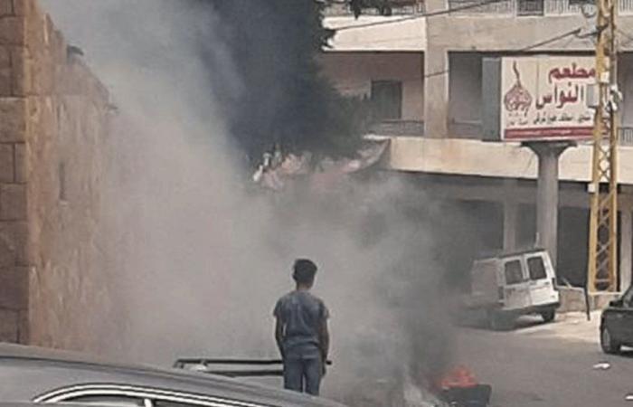 حرق نفايات عند مدخل بلدة سير الضنية