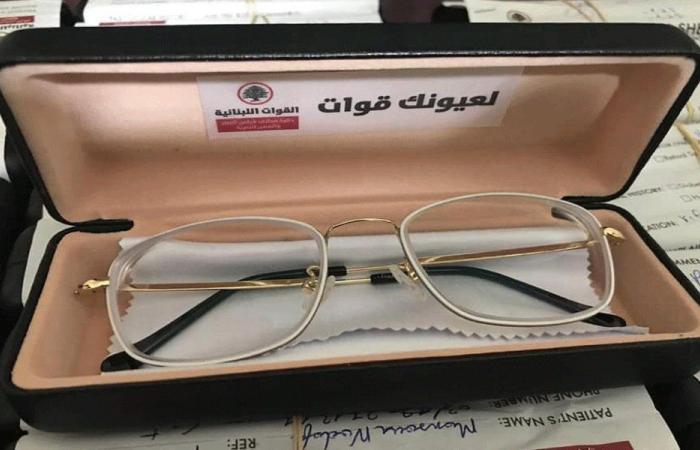 """""""القوات"""" وزعت نظارات طبية مجانية في دير الأحمر"""
