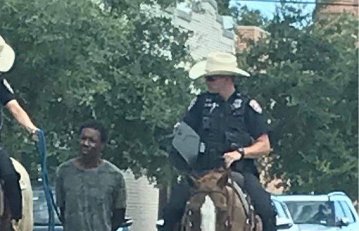 شرطة ولاية تكساس تعتذر عن جر رجل أسود بحبل بعد اعتقاله