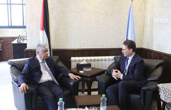 فلسطين | مجدلاني يلتقي المفوض العام للأونروا