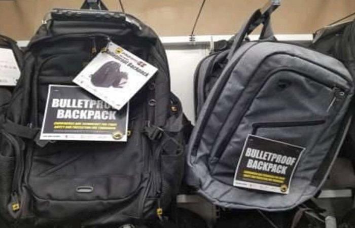حقائب مدرسية… ضد الرصاص!