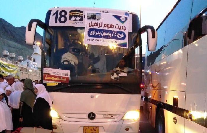 فلسطين | البعثة الفلسطينية تنهي عملية تفويج حجاج غزة من منى الى الفنادق