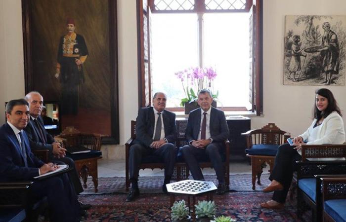 لازاريني التقى جريصاتي: لاستعادة العافية المالية والاقتصادية في لبنان