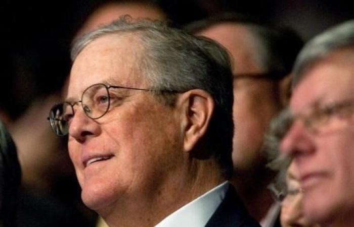 وفاة الملياردير الاميركي ديفيد كوهخ ممول التيار المحافظ