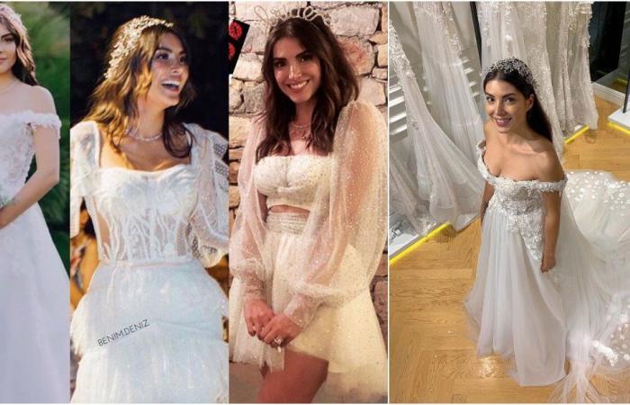دينز بايسال تحتفل بزفافها بـ 3 فساتين.. وعريسها يهديها أغنية خاصة!