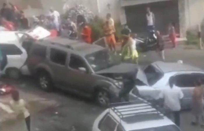 بالفيديو: حادث سير كبير في الحدث