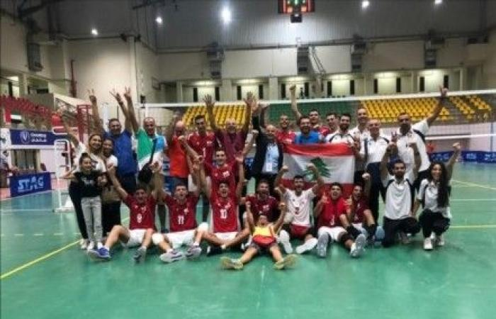 فوز لبنان على الاردن في افتتاح الكرة الطائرة العربية للناشئين