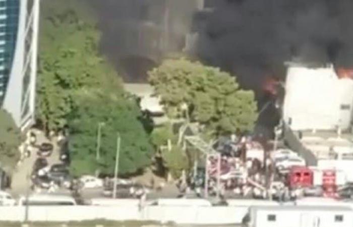 مصر | مصر.. حريق بوكالة البلح التجارية ولا ضحايا