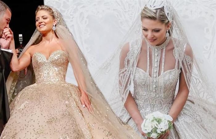 فستان زفاف جديد من تصميم إيلي صعب.. هل هو أجمل من الذي صمّمه لعروس ابنه؟