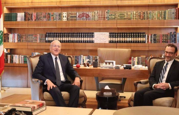 ميقاتي التقى شنكر: لبنان متمسك بالقرار 1701