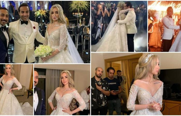 زفاف هنا الزاهد وأحمد فهمي.. دخول أسطوري ونجوم بالجملة ودموع والدتها!