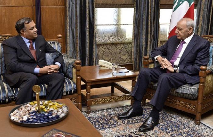 بري عرض العلاقات الثنائية مع سفراء الهند والنروج وتشاد