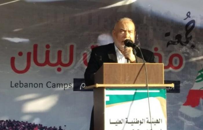 فلسطين | بحر يدعو البرلمان والحكومة اللبنانية لمساندة اللاجئين الى حين عودتهم