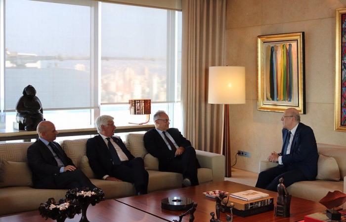 دعم لبنان بين ميقاتي ووفد برلماني إيطالي