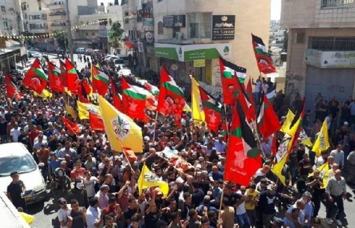 فلسطين   جماهير العيزرية يشيعون جثمان الشهيد الطفل أبو رومي