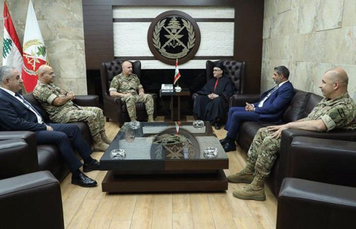 عبد الساتر التقى العماد عون: بكركي إلى جانب الجيش دومًا