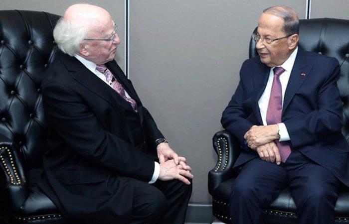 الرئيس الايرلندي للرئيس عون: للبنان دور عالمي مميز