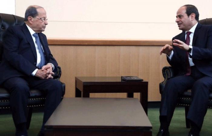 سبل تطوير العلاقات اللبنانية – المصرية بين عون والسيسي