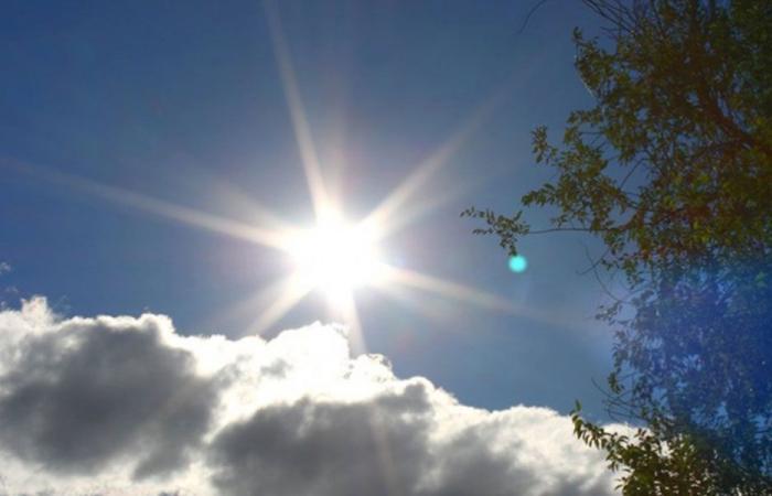 طقس قليل الغيوم مع ارتفاع محدود بالحرارة