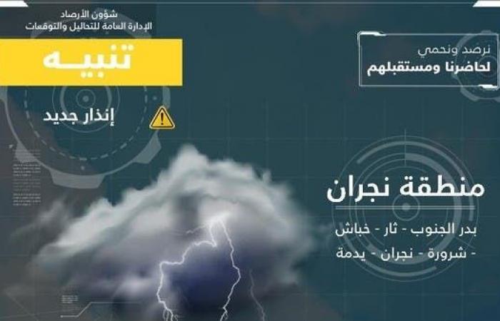 الخليح | تأثيرات إعصار هيكا تصل نجران.. وتفعيل خطط الطوارئ