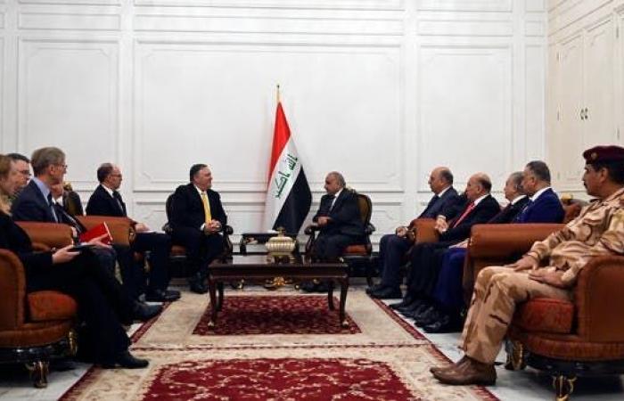العراق | عبد المهدي يؤكد لبومبيو عودة الاستقرار وقرب إصدار قرارات إصلاحية