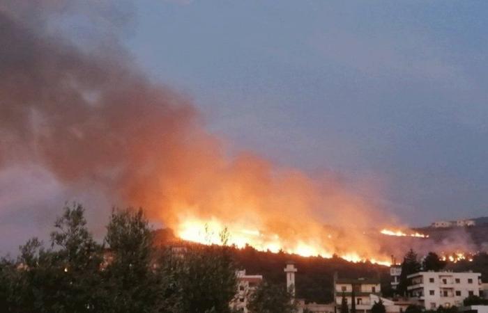 إخماد حريق كبير في بخعون-الضنية